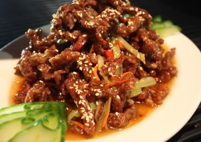 Crispy Beef in Plum Chilli Sauce