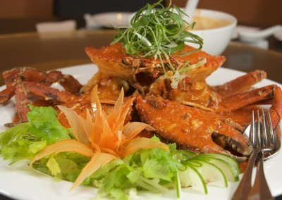 Mud Crab in Singapore Chili Sauce