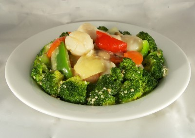 Stir Fried Scallops with Broccoli at Noodle House Mitchell
