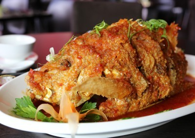 Whole Fish in Thai Chili Sauce at Noodle House Mitcham